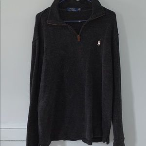 Polo 1/4 Zip Pullover Sweater